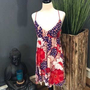{FREE PEOPLE} Royal Red Blossom Dress ♥️💜